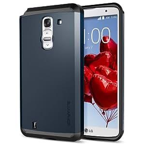 Spigen LG G Pro 2 Case Slim [Slim Armor] [Metal Slate] Dual Layer Protective Case for LG G Pro II (2014) - Metal Slate (SGP10707)