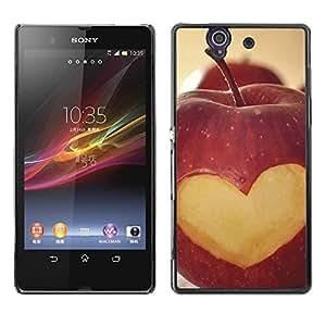 YiPhone /// Premium Schlank Snap-Fall-Abdeckung Shell Rüstung Schutzhülle - Fruit Macro Apple Heart Lowe;; - Sony Xperia Z L36H C6602 C6603 C6606 C6616