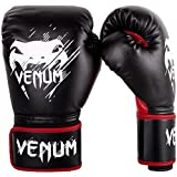 Venum Contender Gants de Boxe Mixte Enfant, Noir/Rouge, 8oz
