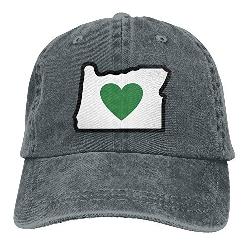 Dsarqwe Unisex Baseball Cap Love Oregon Cotton Jean Trucker Hat for Women -