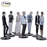 Coaste Antilane BTS Standing Figur/Bangtan Jungen Desk Stand Miniature, KPOP BTS/EXO/GOT7/WANNA ONE/SEVENTEEN Band Members Actionfigur/Acryl Figur, Geeignet für Display oder Sammlung (Style 02)