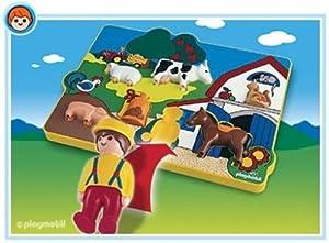 PLAYMOBIL 6746 - 1.2.3 Puzzle de Granja - 123 Puzzle Granja. Oferta Antes 15,99€, Juguete Primera Infancia