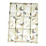 Unbekannt Landhausstil Blumenmuster Fenster Tüll Vorhang Gardine Panel, Haus Dekoration - Schmetterling 140x140cm