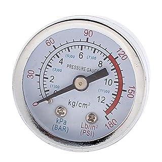 Pneumatischer Druckluftmesser, Manometer, 4,3cm Durchmesser, 0–1300kPa