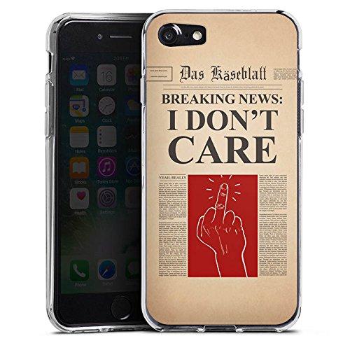 Apple iPhone X Silikon Hülle Case Schutzhülle News Spruch Egal Silikon Case transparent