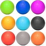 2x Lacrosse B�lle �Lio� (6cm Durchmesser) in vielen Farbkombination zur Massage von Triggerpunkten. Idealer Massageball / Massagerolle zur punktuellen Behandlung von Verspannung & Verh�rtungen �hnlich dem Faszientraining (Faszienrolle bzw. Faszienball) Bild