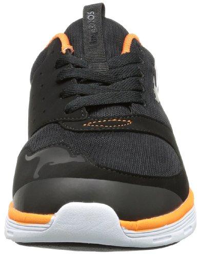 KangaROOS Superb, Herren Sneakers Schwarz (black/orange 570)