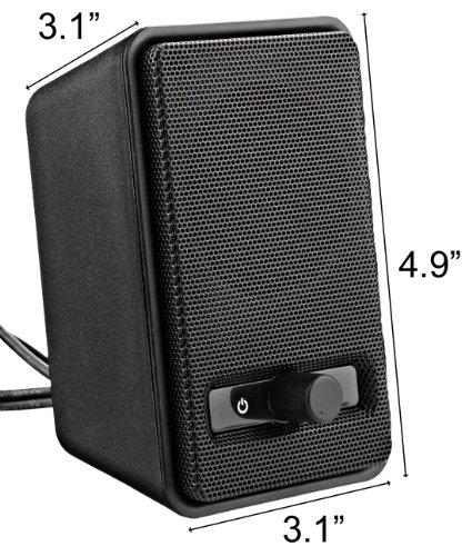 AmazonBasics A100 PC-Lautsprecher - 8