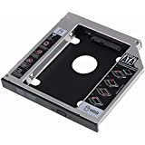 VicTop 12,7 mm SATA 2 nd HDD HD Hard Drive Caddy funda para portátil universal CD/DVD-ROM óptico Bay