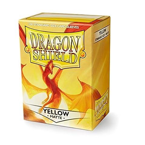 Dragon Shield Matte Yellow Standard Sleeves (100)