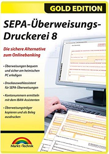 SEPA Überweisungs Druckerei 8 - die sichere Alternative zum Online Banking für Windows 10 / 8.1 / 8 / 7