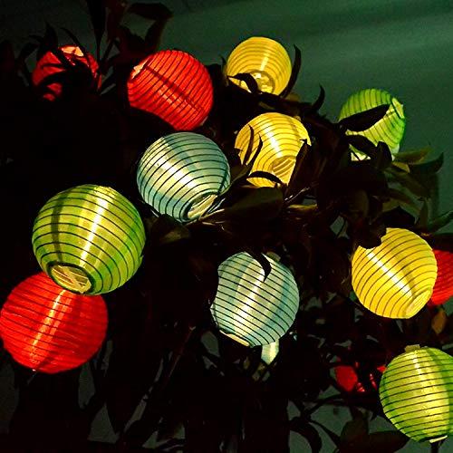 Lichterkette Solar Aussen, Garten-Laternen imprägniern IP65, chinesische Laternen-Lichter 6M 30 LED Ball-feenhafte Lichter für Party-Garten Halloween-Weihnachten ()