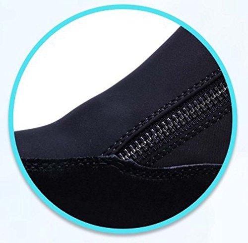 Scarpe Da Ascensore Scarpe Da Ginnastica Casuale Con Tacco A Punta Rotonda Tacco A Tacco Scarpe Casuali Donne Di Autunno Scarpe Sportive Scarpe Di Sicurezza All'aperto Scarpe Incinte Black