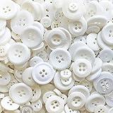 Weiß 100Gramm-Tasche Mix Acryl & Harz Knöpfe für, Verzierungen