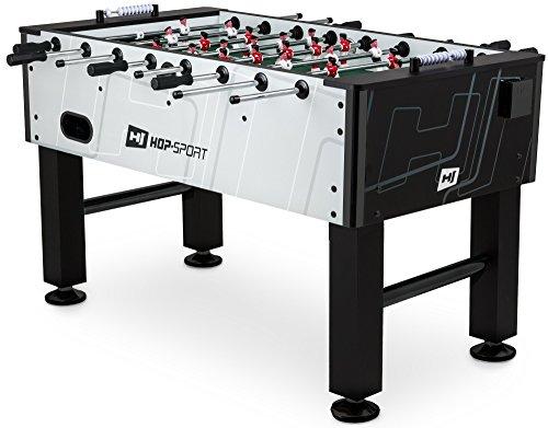 Hop-Sport Tischkicker EVOLUTION Tischfußball Fußballtisch in 3 Farbvarianten (Silber-Schwarz)