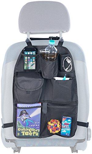 Lescars Kfz Rücksitz Organizer: Kfz-Rückenlehnen-Organizer für Spielzeug & Co, für Alle Fahrzeuge (Rücksitztasche)