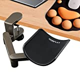 E-More Wrist Rest Armrest Adjustable Computer Arm Support Ergonomic Aluminium Alloy Computer Armrest Elbow Stand Desk Extender for Professional Computer Monitor Working(Gray)