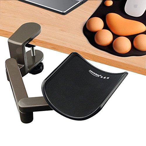 E more Supporto poggia braccio polso o gomito da scrivania ergonomico regolabile lega di alluminio per chi lavora al computer colore grigio