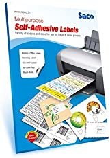 Saco Self-Adhesive Label - 24 Label per Page(A4) - 100 Sheets