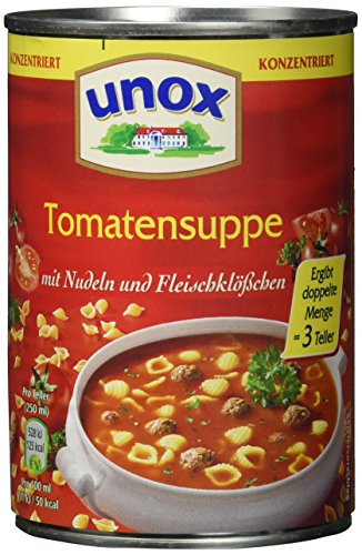 Unox  Konzentrat Tomaten Suppe 3 Teller, 6er-Pack (6 x 400 ml) (Tomaten-suppe)