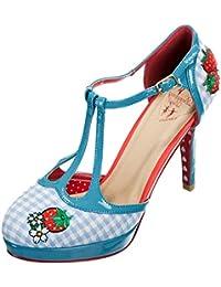Dancing Days Damen Schuhe Leah Vintage Gingham 40s Pumps Geschlossen 35c45fb914