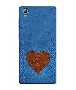PrintVisa Jeans Texture 3D Hard Polycarbonate Designer Back Case Cover for Vivo Y51 :: VivoY51L