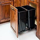35-quart- schwarz doppelt Sammelbehälter System/2Dosen enthalten & Doorkit