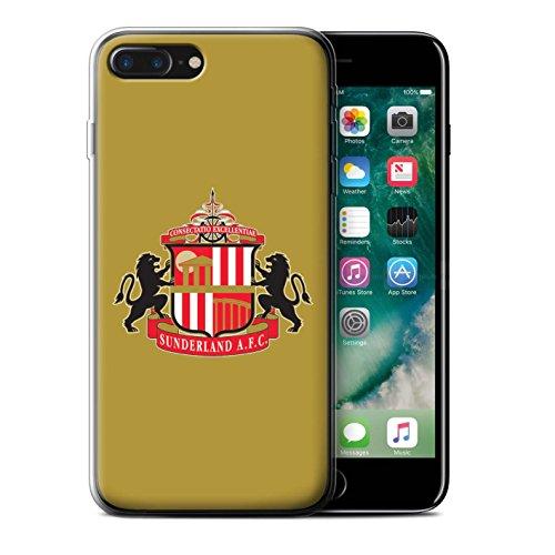 Offiziell Sunderland AFC Hülle / Gel TPU Case für Apple iPhone 7 Plus / Weiß Muster / SAFC Fußball Crest Kollektion Gold