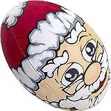 Gilbert Assortis Ballon de Rugby Design Assorti - Père Noël, Size 5