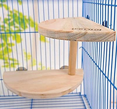 Small Pet Wooden Cage Platform Shelf Stand Board f' Chinchilla Hamster Squirrel - cheap UK light store.