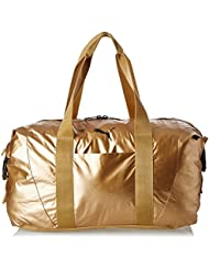 PUMA Damen Tasche Fit AT Workout Bag Gold, Metallic grau, 42x 27 x 16 cm, 70 Liter, 74137-0002