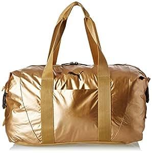 Puma Damen Tasche Fit AT Workout Bag Gold, Metallic grau, 42 x 27 x 16 cm, 70 Liter, 74137-0002
