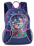 Kinder Rucksack - Disney - Frozen - Eiskönigin - ELSA - Anna - mit Hauptfach und Nebenfach Getränkenetz
