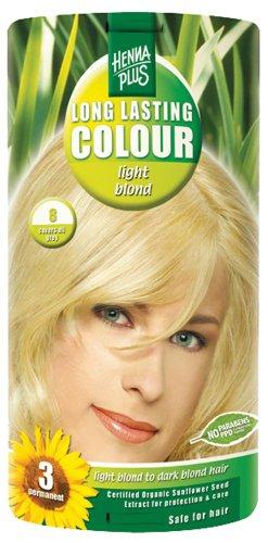 Hennaplus 49133 Long Lasting Colour 8 Light Blond