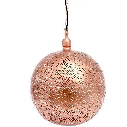 Emporio Arts EMPORIO Lumières marocain fait main antique boule Lampe à suspendre en Hexa Etching, fer, cuivre, E27, 40 Watts