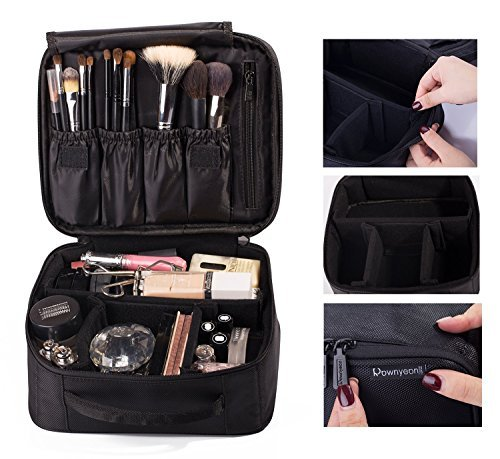 ROWNYEON Makeup Case Kosmetiktasche Make-up Fall Mini Makeup Zug Case Tragbare Reise-Make-up Tasche Makeup Case Makeup-Mini-Zug Case9.8''