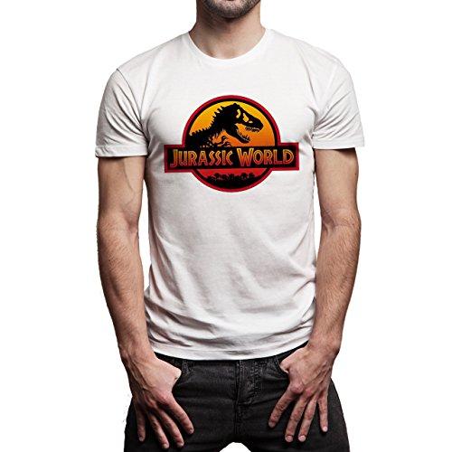 Jurassic World Movie 2015 No Back Herren T-Shirt Weiß