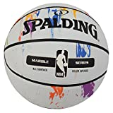 Spalding NBA Marble Series Rainbow Basketball, Size 7 (White)
