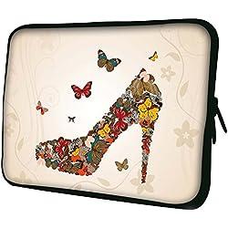 """Luxburg 14"""" pouces Housse Sacoche Pochette pour ordinateur portable / tablet - Papillons De Chaussures"""