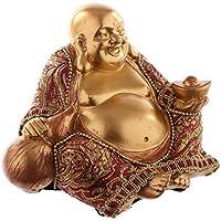 Buddha Figur Gold Mit Stoff Statue Buddafigur Feng Shui Buddhismus Grosser Budda