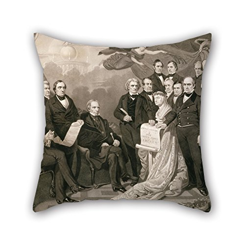 Beautifulseason Pillow Shams 16 X 16 Inches / 40 By 40 Cm(twin Sides) Nice Choice For Bar,wedding,office,home Theater,son,valentine Oil Painting Henry S. Sadd - Union