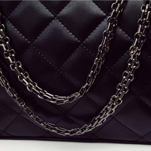 Borsa Della Borsa Della Spalla Della Griglia Delle Donne Violet-Leather