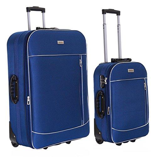 Slimbridge Rennes juego de 2 maletas extensibles, Azul