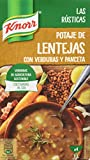 Knorr Las Rústicas Potaje de Lentejas con Verduras y Panceta - Paquete de 8 x 1 L - Total: 8 L