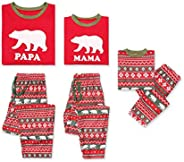 Family Matching Christmas Pajamas Set, Pajama Pants Bear PJS Set for Men Women Kids