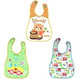 WonderKart Set of 3 Waterproof Baby Apron Cum Bib - Random Colors and Designs