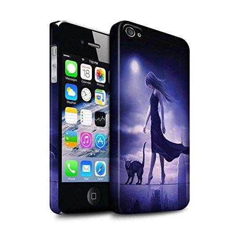 Officiel Elena Dudina Coque / Clipser Matte Etui pour Apple iPhone 4/4S / Sorcière Chaudron Design / Magie Noire Collection Somnambule/Insomnie