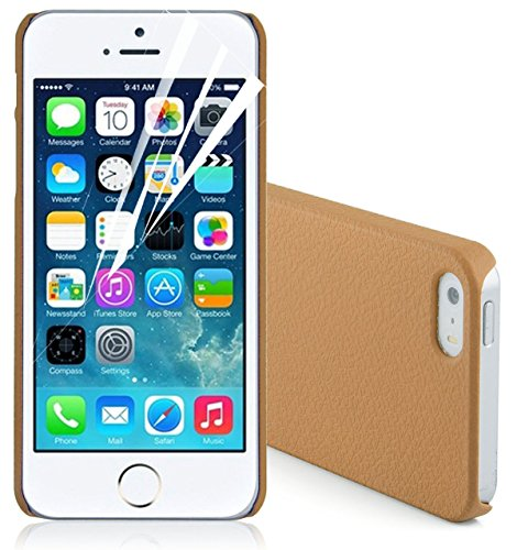 JAMMYLIZARD | Terracotta Back Cover Hülle für iPhone 5 und 5s, ORANGE BRAUN