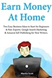 Earning Money at Home: Two Easy Business Ideas to Start for Beginners & Non-Experts. Google Search Marketing & Amazon Self-Publishing for Non-Writers.