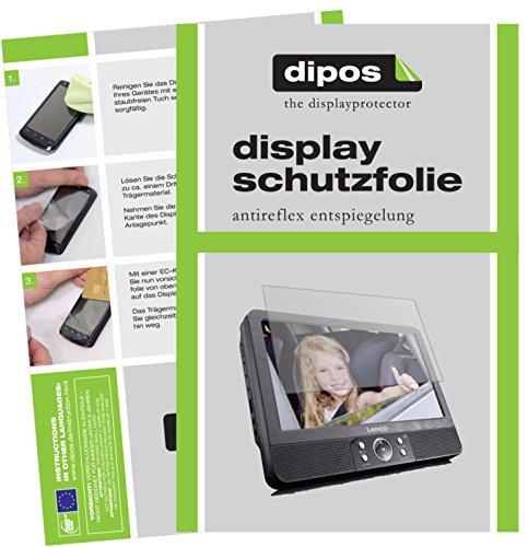 dipos I 3X Schutzfolie matt passend für Lenco DVP-939 Folie Displayschutzfolie